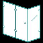 Shower enclosure glass icon