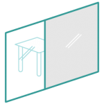 Switchable glass icon