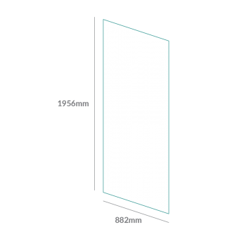 glass fit icon single panel 874